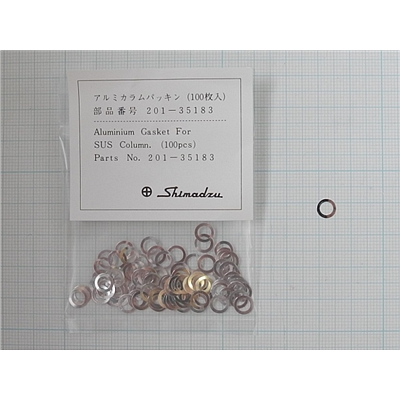 铝垫圈Aluminum Gasket, for Column, 100pcs/pack,用于GCMS-QP2010/QP2010S/QP2010Plus